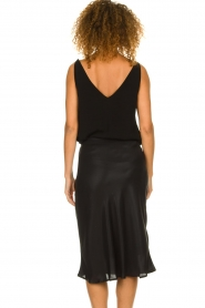 Set |  Shiny midi skirt  Sacha | black  | Picture 5