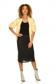 Set |  Shiny midi skirt  Sacha | black  | Picture 3