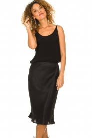 Set |  Shiny midi skirt  Sacha | black  | Picture 2