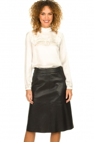 Set |  Blouse with ruffles Madame | white  | Picture 2