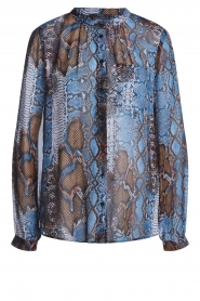 Set |  Snake printed blouse Sizzly | blue  | Picture 1