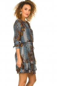 Set |  Snake printed blouse Sizzly | blue  | Picture 4