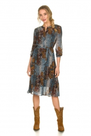 Set |  Dress with snake print Sizzly | blue  | Picture 3