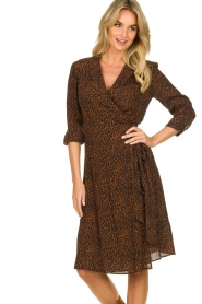 Set |  Dress with leopard print Tigra | brown  | Picture 4