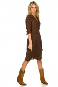 Set |  Dress with leopard print Tigra | brown  | Picture 3