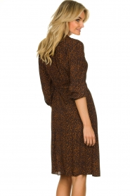 Set |  Dress with leopard print Tigra | brown  | Picture 6