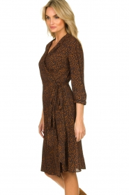 Set |  Dress with leopard print Tigra | brown  | Picture 5