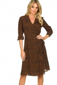 Set |  Dress with leopard print Tigra | brown  | Picture 2