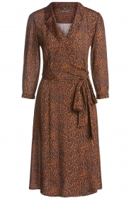 Set |  Dress with leopard print Tigra | brown  | Picture 1