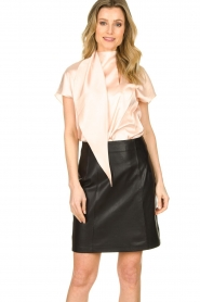 Set |  Leather skirt Butter | black  | Picture 4