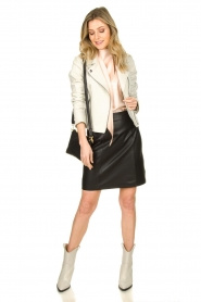 Set |  Leather skirt Butter | black  | Picture 3