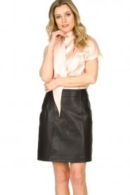 Set |  Leather skirt Butter | black  | Picture 2