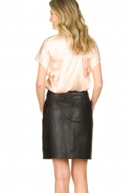 Set |  Leather skirt Butter | black  | Picture 6