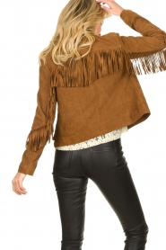 Set |  Leather jacket with fringe Wild West | brown  | Picture 6