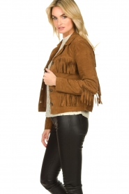 Set |  Leather jacket with fringe Wild West | brown  | Picture 5