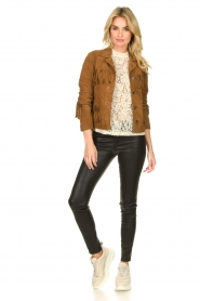 Set |  Leather jacket with fringe Wild West | brown  | Picture 3