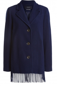 Set |  Coat with fringe Milly | blue  | Picture 1
