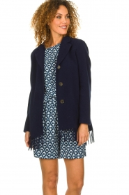 Set |  Coat with fringe Milly | blue  | Picture 2