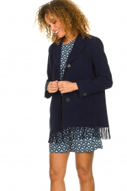 Set |  Coat with fringe Milly | blue  | Picture 5