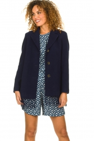 Set |  Coat with fringe Milly | blue  | Picture 4