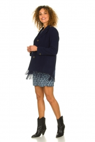 Set |  Coat with fringe Milly | blue  | Picture 3