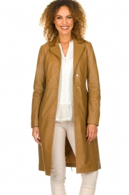 Set |  Leather trenchcoat Emilia | brown  | Picture 5