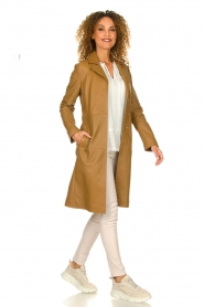 Set |  Leather trenchcoat Emilia | brown  | Picture 3