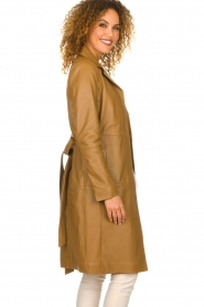 Set |  Leather trenchcoat Emilia | brown  | Picture 4