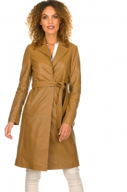 Set |  Leather trenchcoat Emilia | brown  | Picture 2