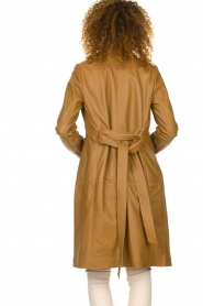 Set |  Leather trenchcoat Emilia | brown  | Picture 6