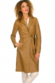 Set |  Leather trenchcoat Emilia | brown  | Picture 7