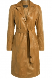 Set |  Leather trenchcoat Emilia | brown  | Picture 1
