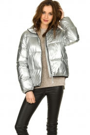 Set |  Down jacket Shimmer | silver  | Picture 2