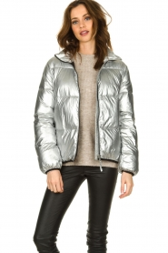 Set |  Down jacket Shimmer | silver  | Picture 4