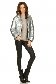 Set |  Down jacket Shimmer | silver  | Picture 3