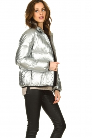 Set |  Down jacket Shimmer | silver  | Picture 5