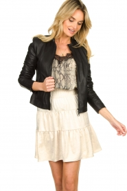 Set |  Leather jacket Nelia | black  | Picture 2