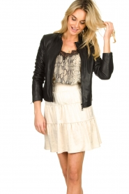 Set |  Leather jacket Nelia | black  | Picture 5