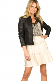 Set |  Leather jacket Nelia | black  | Picture 4