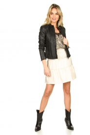 Set |  Leather jacket Nelia | black  | Picture 3