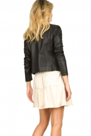 Set |  Leather jacket Nelia | black  | Picture 7