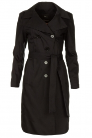 Set |  Trenchcoat with belt Phoebe | black  | Picture 1