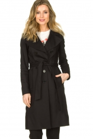 Set |  Trenchcoat with belt Phoebe | black  | Picture 4