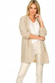 Set |  Soft knitted cardigan Ribble | naturel  | Picture 2