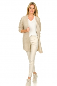 Set |  Soft knitted cardigan Ribble | naturel  | Picture 3