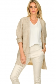 Set |  Soft knitted cardigan Ribble | naturel  | Picture 4