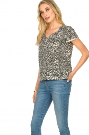 Set |  T-shirt with leopard print Groovy | black  | Picture 3