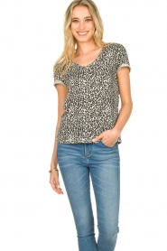 Set |  T-shirt with leopard print Groovy | black  | Picture 5