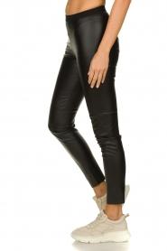 Set |  Faux leather legging Dab | black  | Picture 4