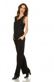 Set |  Classic palazzo trousers Patricia | black  | Picture 3
